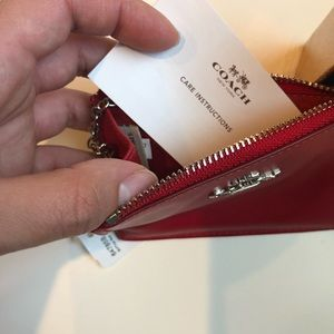 Coach Bags - NWT Coach • Mini Skinny ID Wallet Case , Red